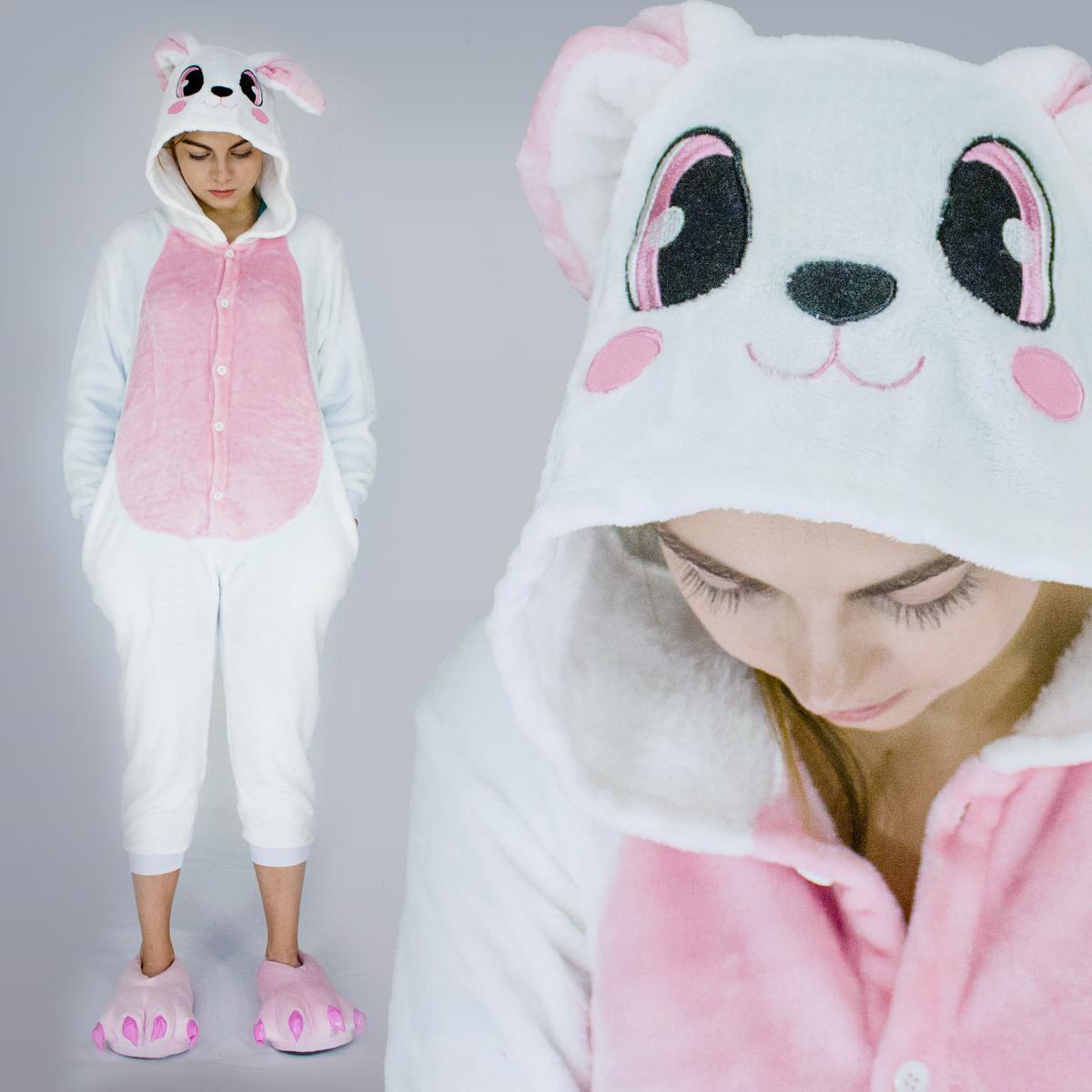 Пижама кигуруми Кролик розовый светлый 906f76a2a6b4d