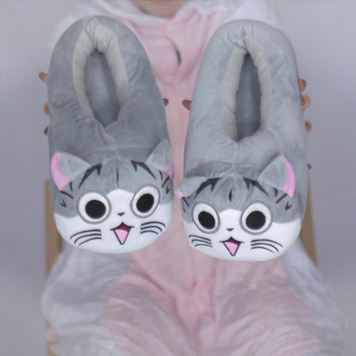 Киуруми тапочки Кот Чи (серый кот) 5b11ff79626d5